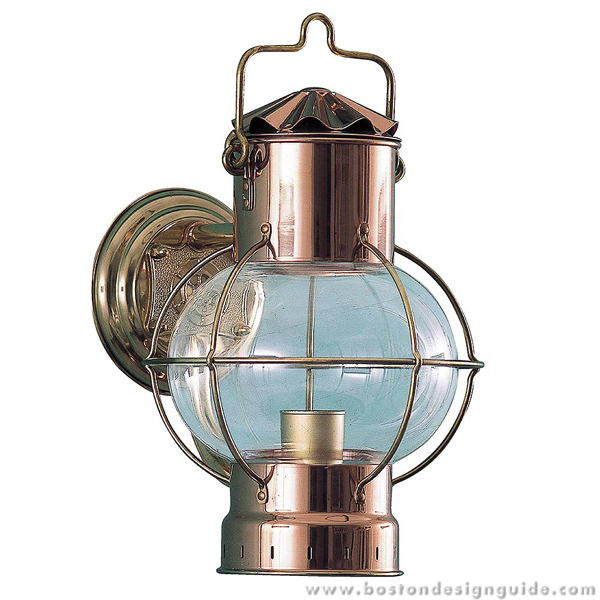 Nautical copper light fixtures