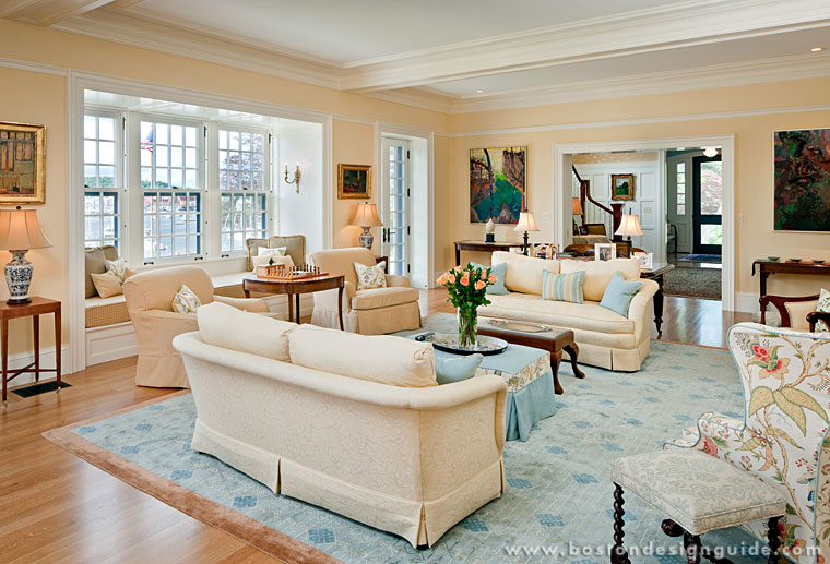 Silva brothers construction for New england style living room ideas