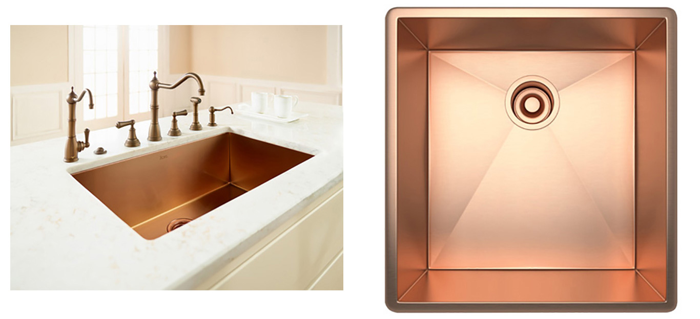 High-end contemporary copper sink