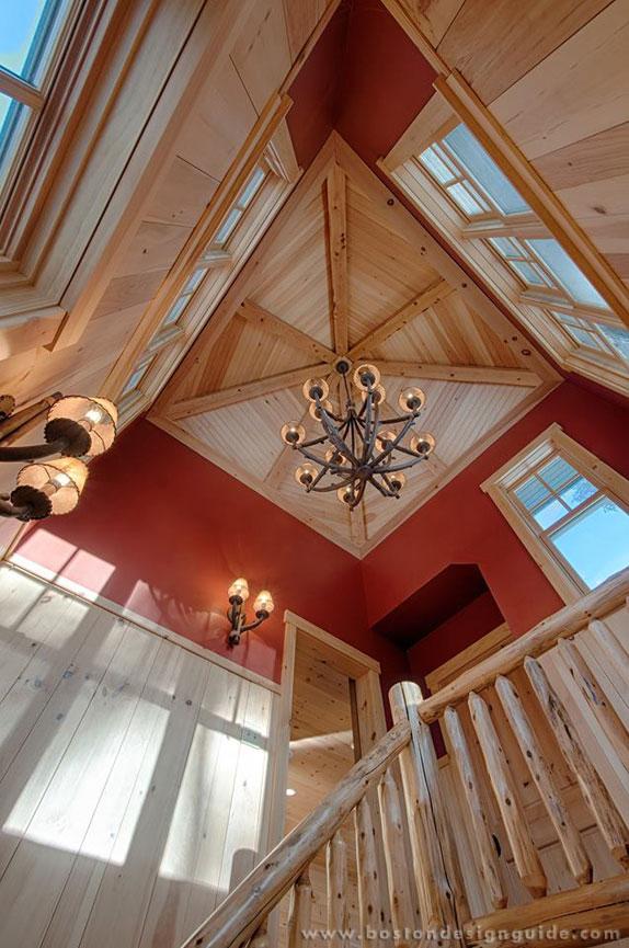 Staircase Tower Style : Custom stair tower evokes rustic elegance boston design