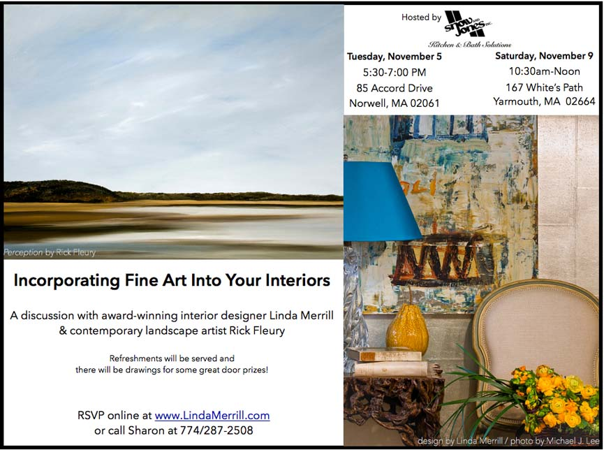 Two Discussions On Incorporating Fine Art Into Your Interiors Will Be Held At Snow Jones In Nowell November 5th 5 30 P M And 9th 10 A