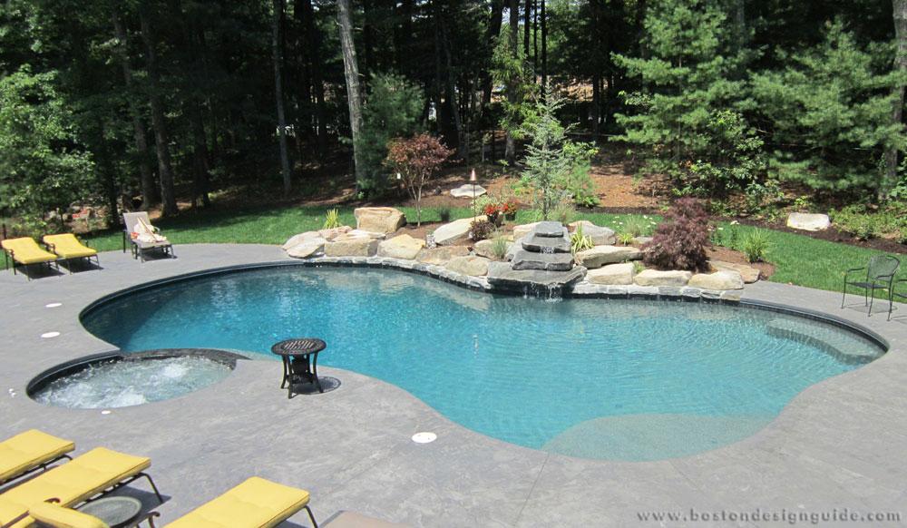 South shore gunite pools spas for Pool design massachusetts
