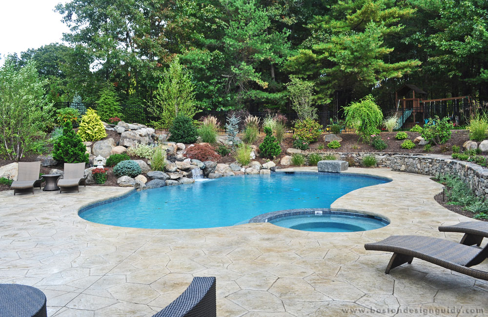 South shore gunite pools spas for Pool design new england