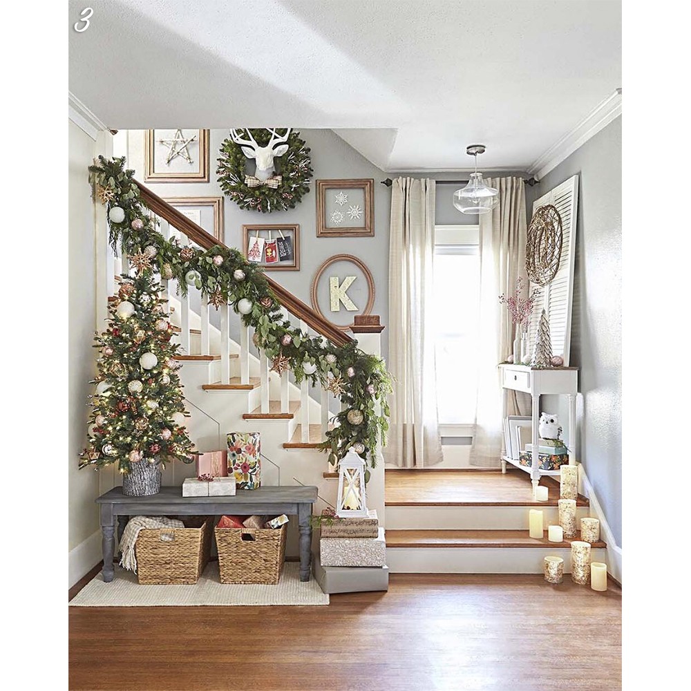 Holiday Decorated Staircases