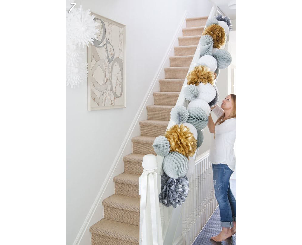 Holiday Stairways Decorated