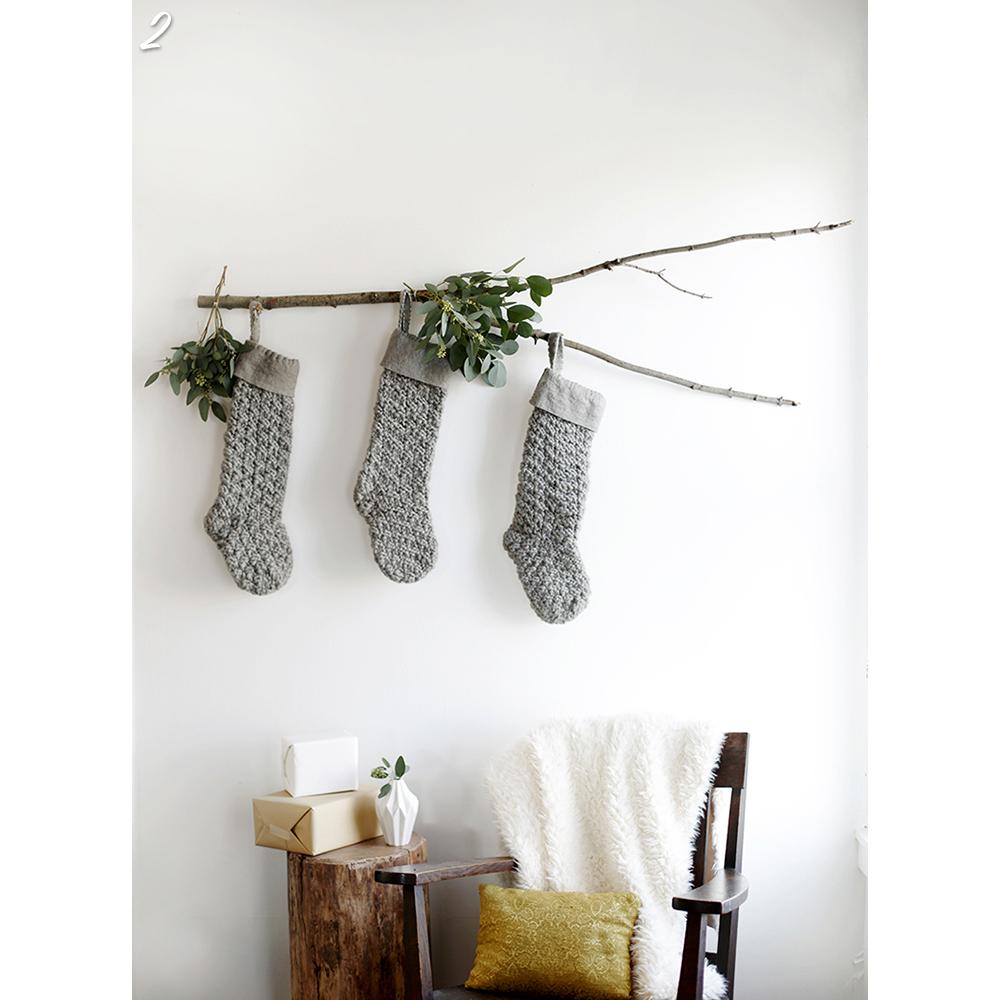 Holiday Stocking Festive Setup