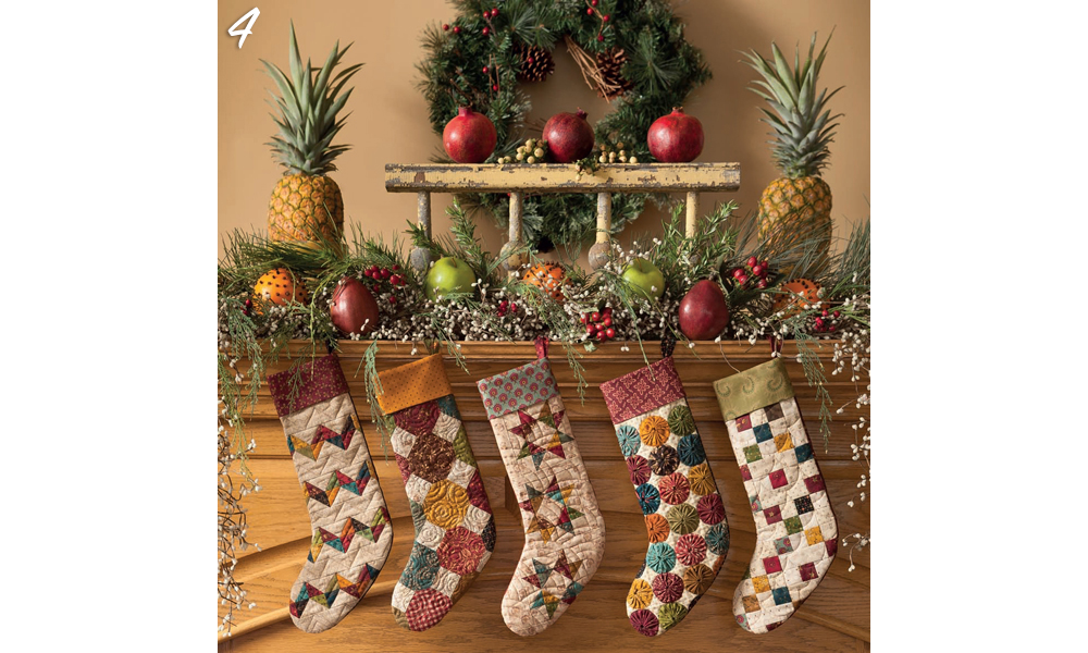 Holiday Fireplace Stocking Decor