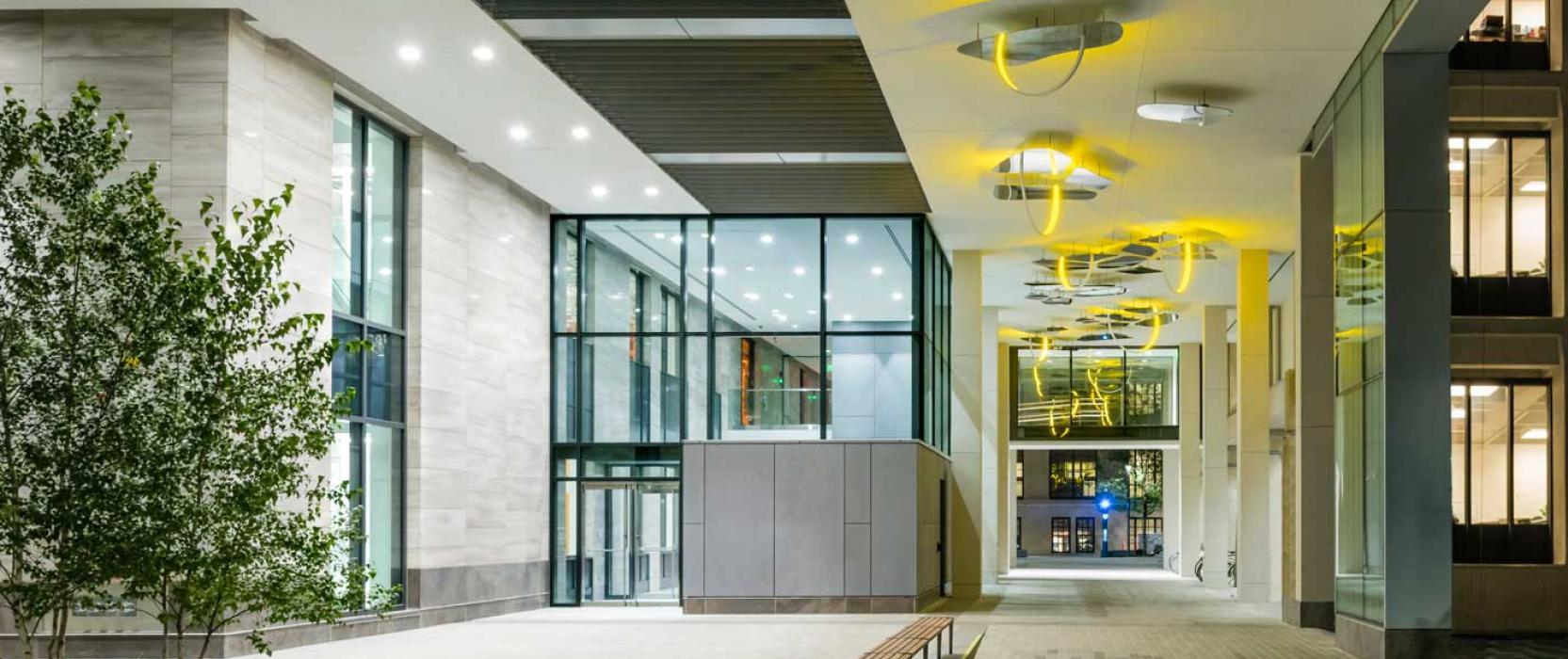entryway to building