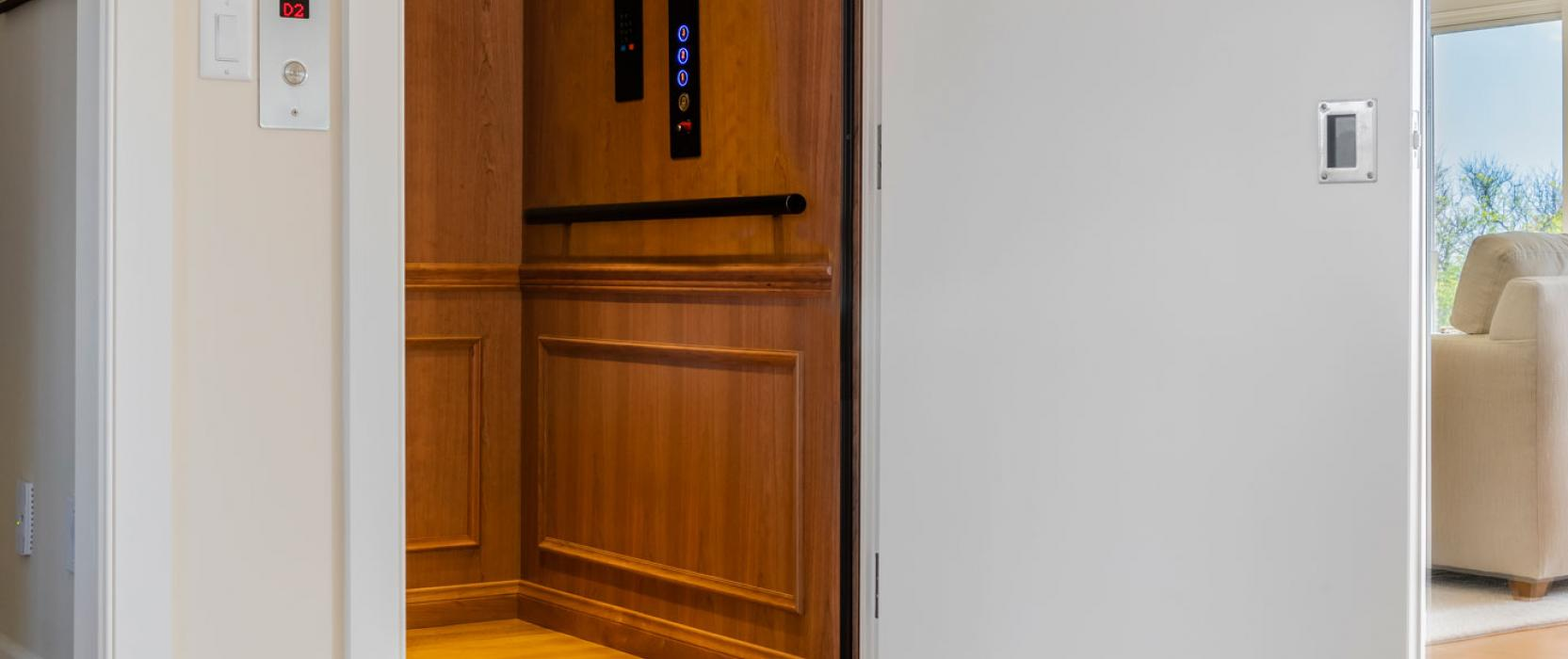Custom oil-rubbed elevator for a Cape Cod home by Above & Beyond Elevator, Inc.