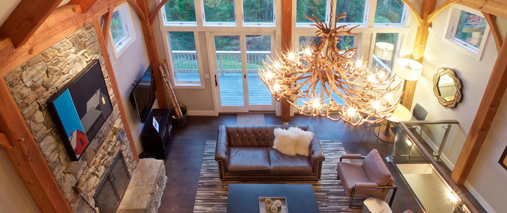 Custom high-end Maine home by Slocum Hall Design Group