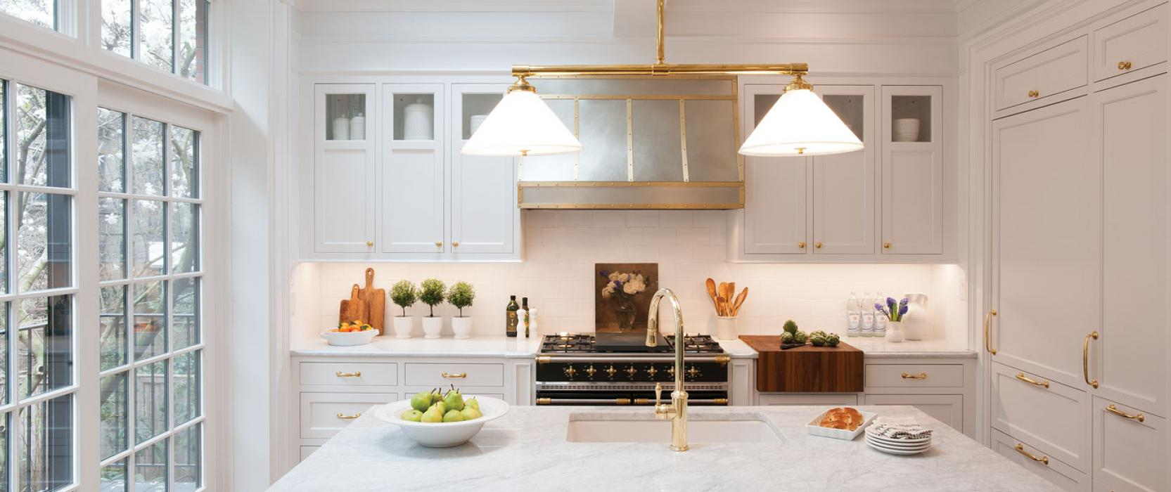 High-end inset custom cabinetry by Crown Point Cabinetry