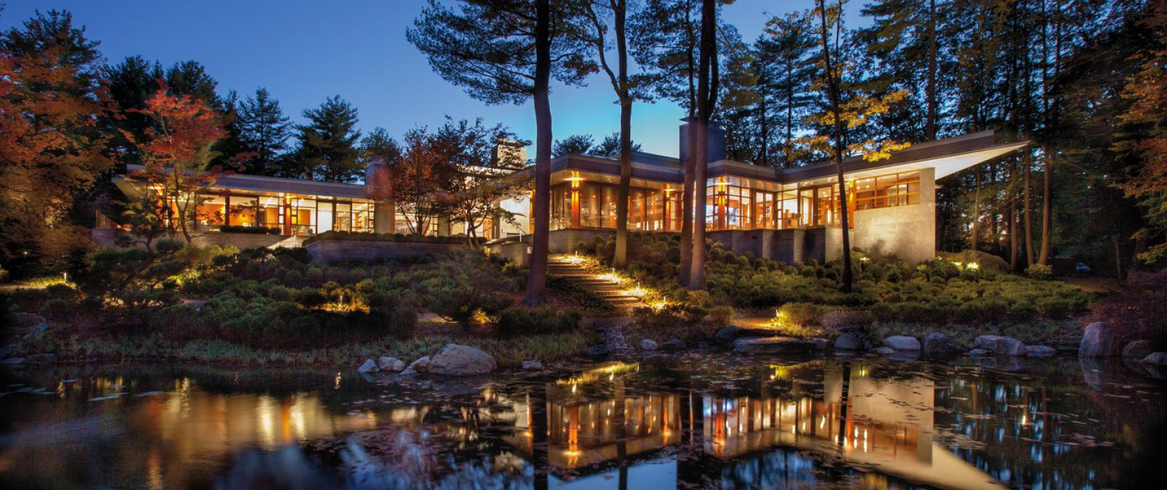 Landscape lighting by Cutting Edge Systems Corporation