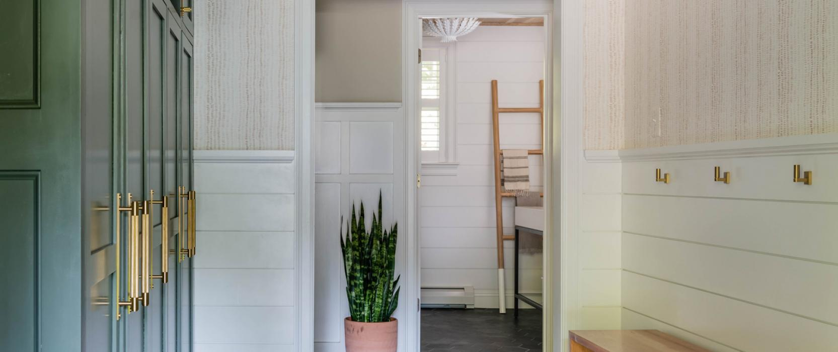 Redesigned mudroom