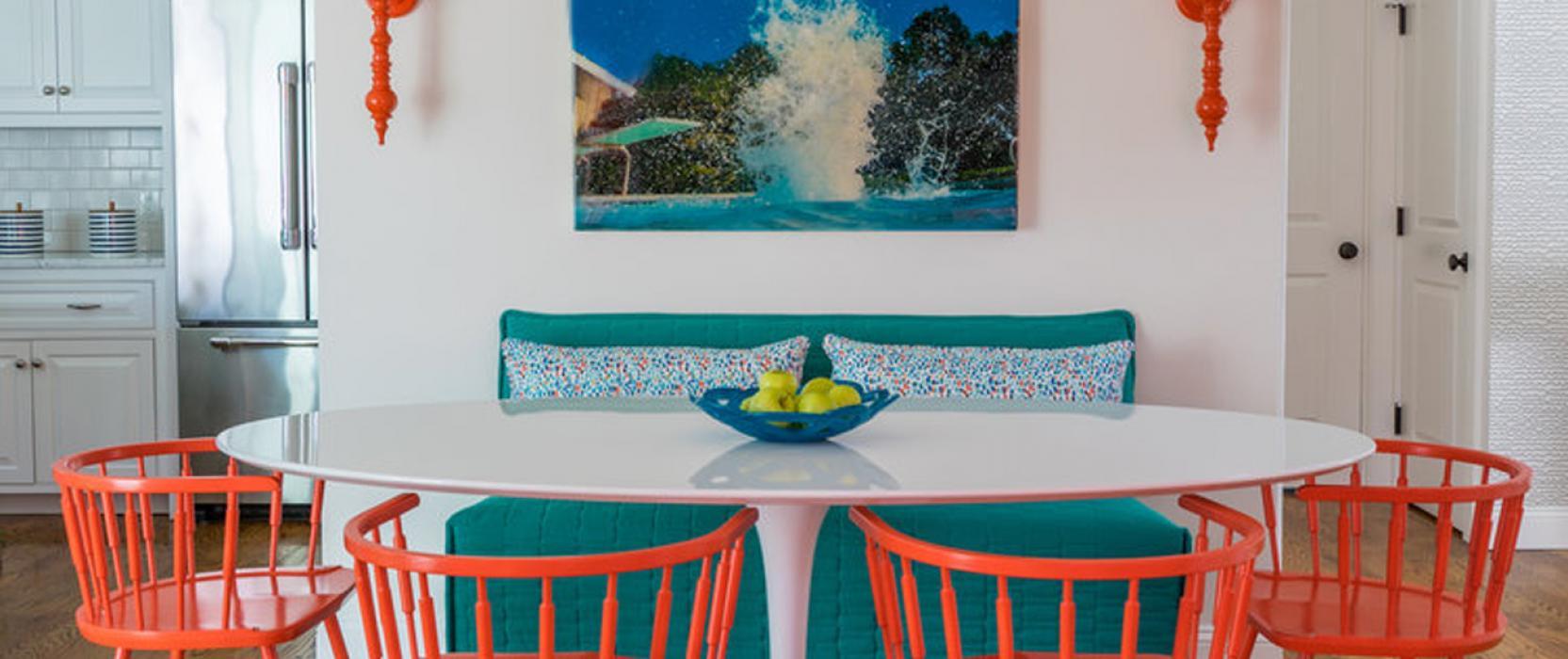 Colorful high-end interior design by Martha's Vineyard Interior Design