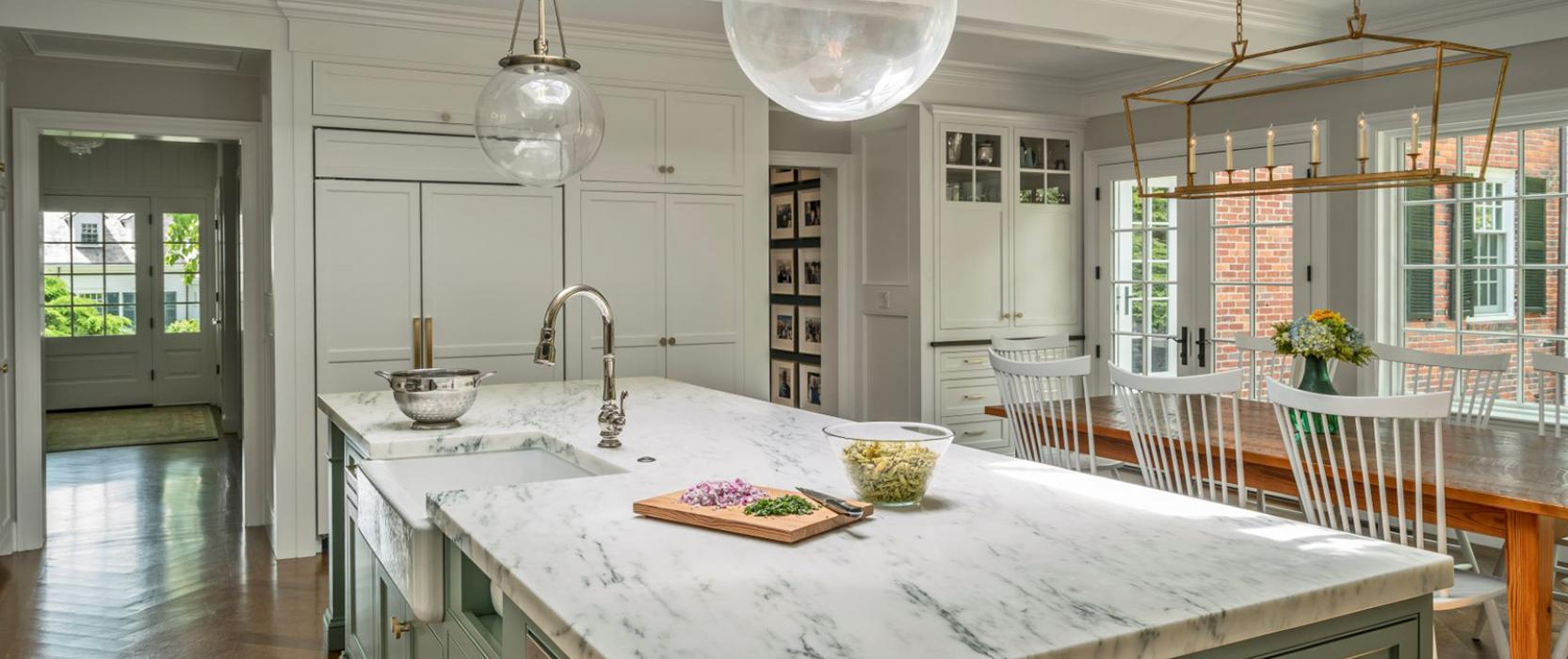 Imperial Danby marble kitchen counter by Onyx Marble & Granite