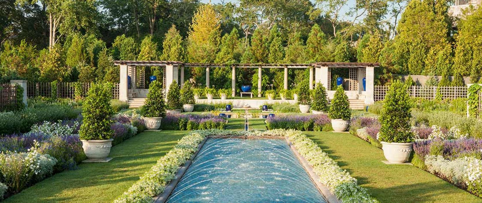 Beautiful landscape gardens in Newport, Rhode Island