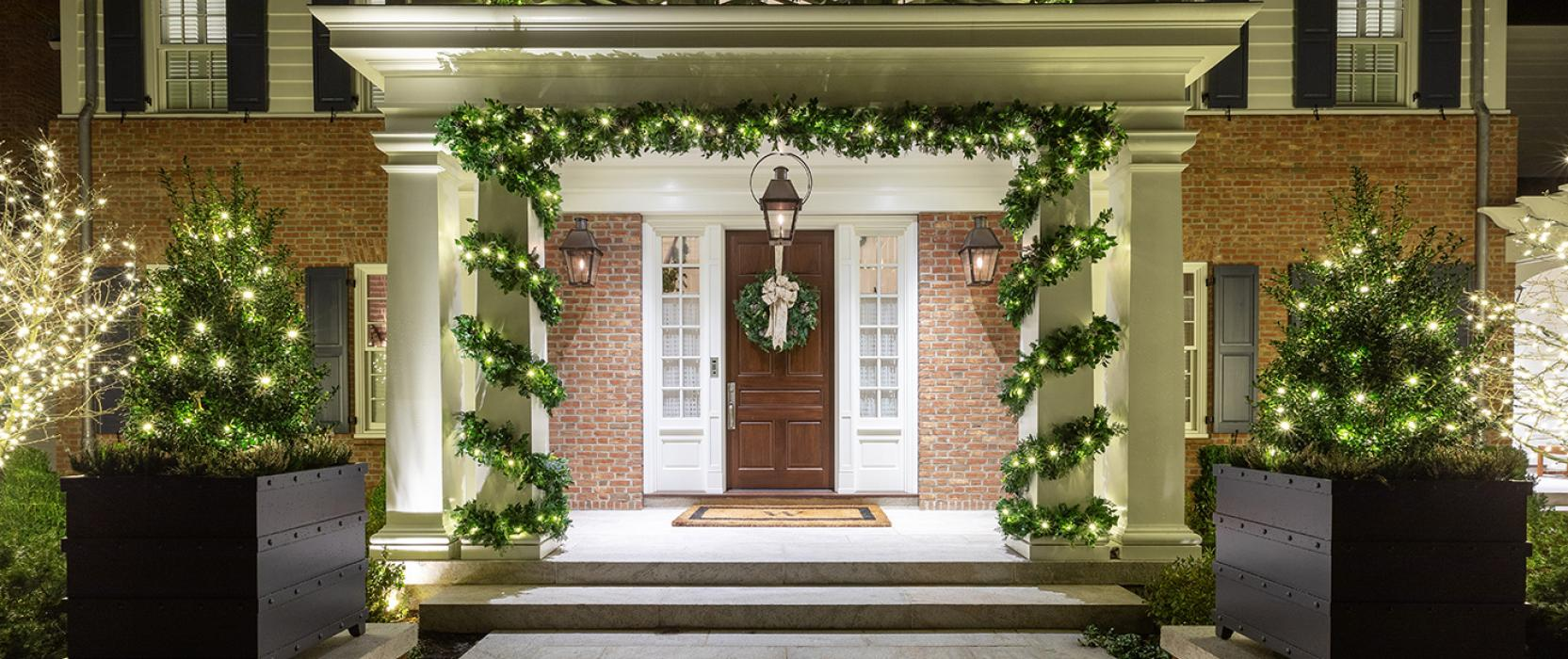 New England home dressed for the holidays by The Schumacher Companies