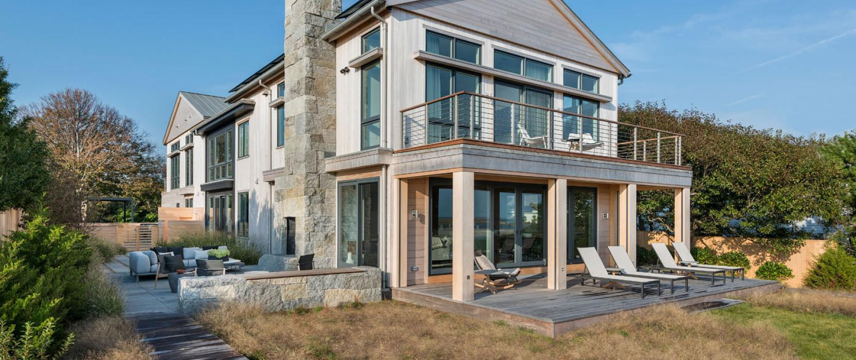 An organic, modern oceanfront retreat in New England with a California flair