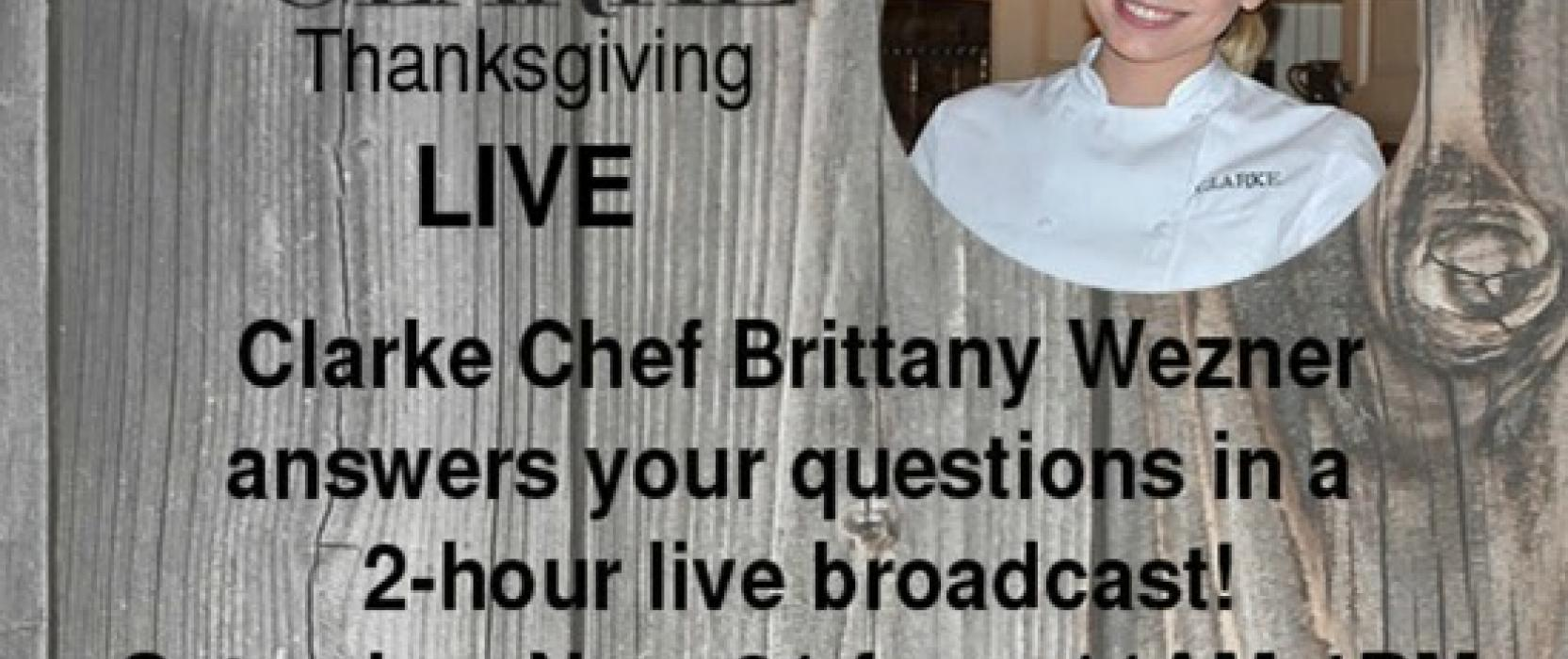 Clarke Chef Answers Thanksgiving Cooking Questions