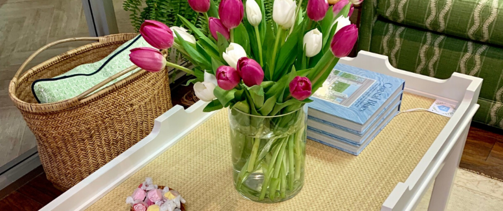 Interior Springtime decor from Summerland Homes and Gardens