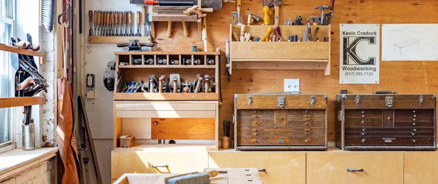 Kevin Cradock woodworking shop