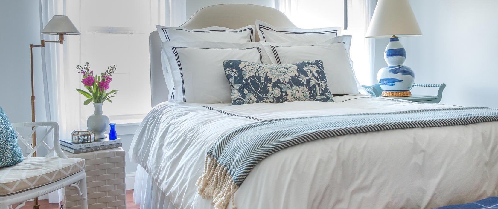 Downy, breezy bedroom
