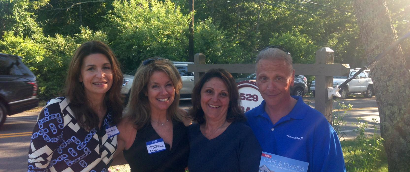 Boston Design Guide Advertising Managers Colleen Keelan and Sharon Litchfield with Crane Appliance representatives.
