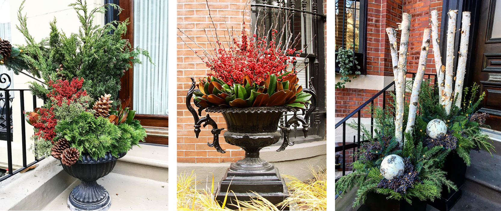 holiday outdoor planter ideas