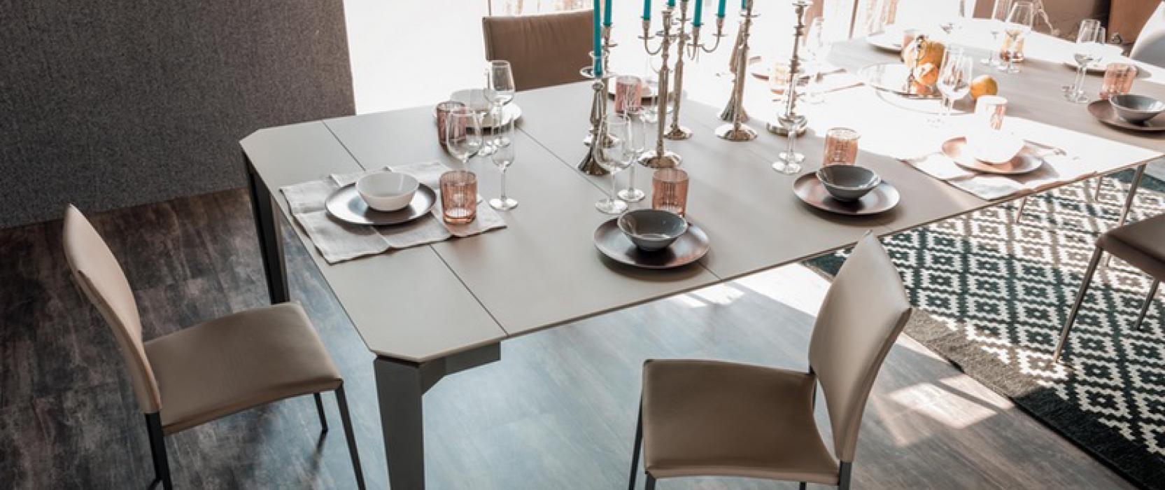 Boston fine Italian Furniture elegant table settings dinner party