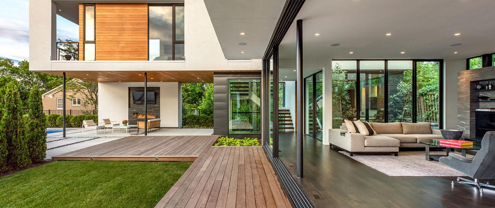 Home with Indoor-outdoor living and doors and windows by Western Window Systems
