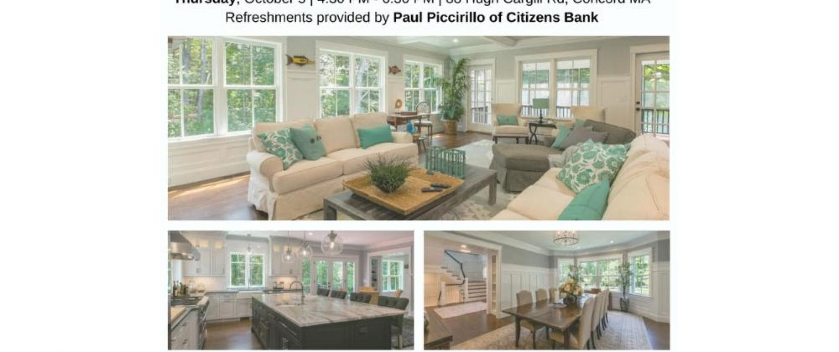 open house real estate in Concord, MA