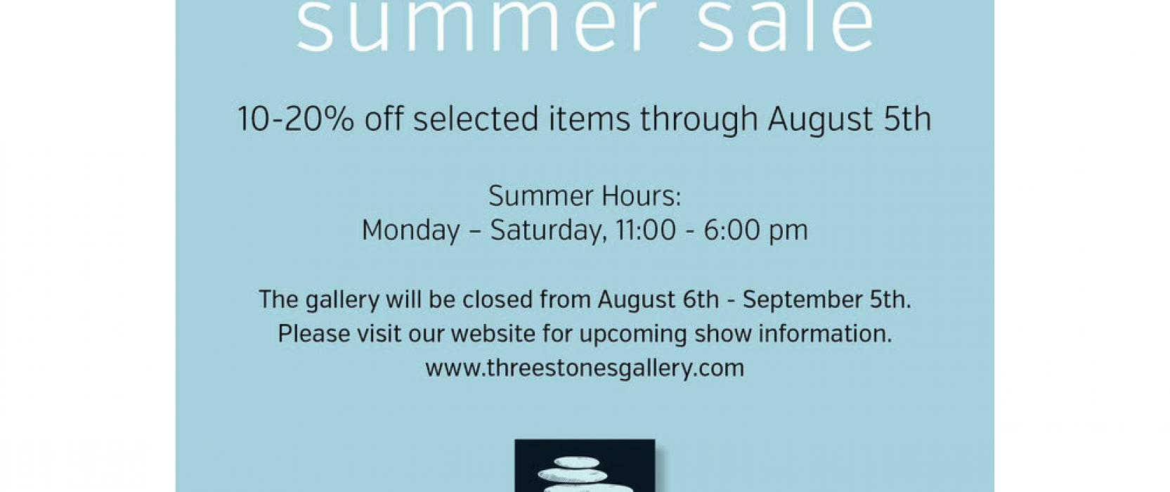 art gallery sale in New England