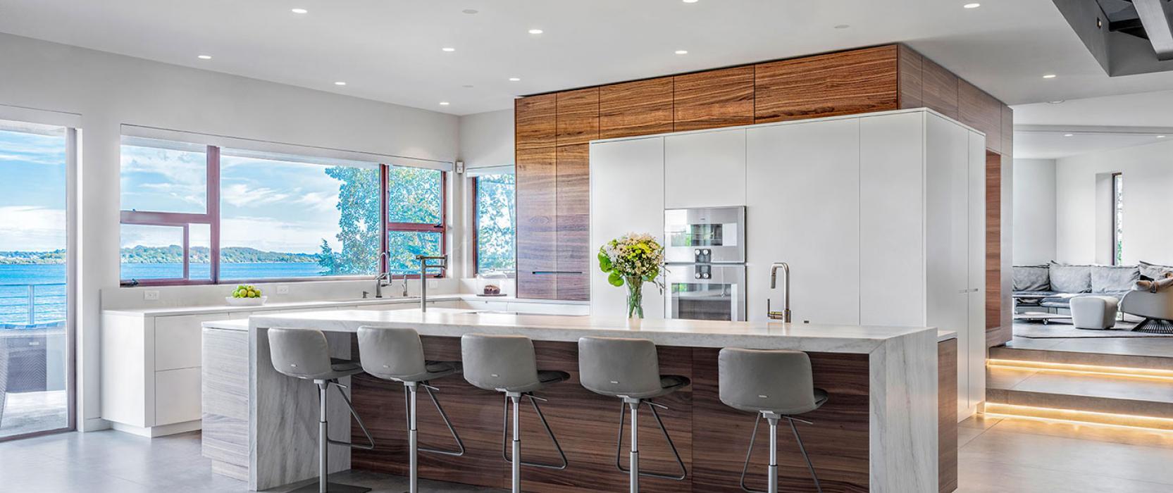 Modern coastal kitchen by Divine Design Center