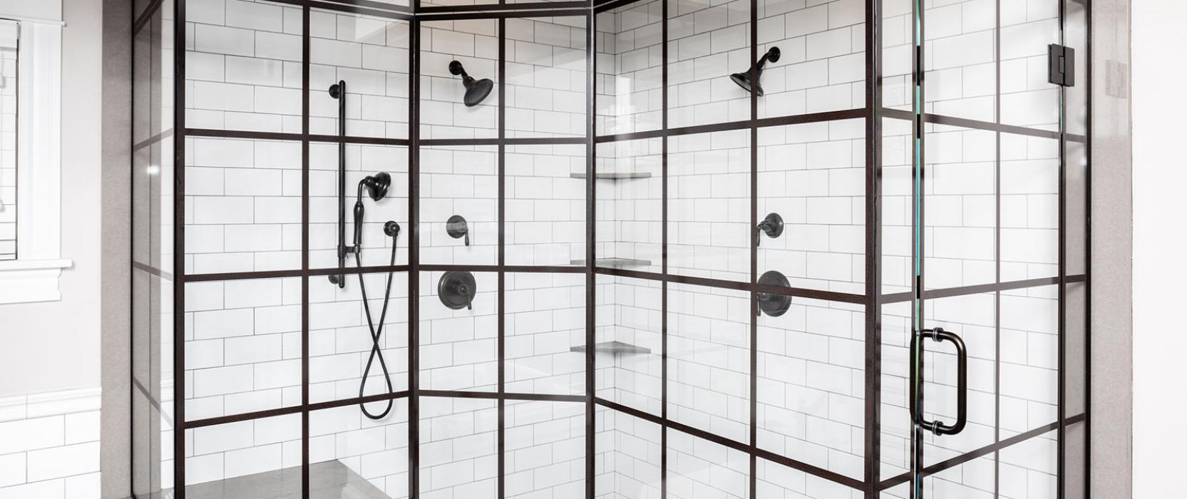 WOON-Tech in-glass printing, grid shower