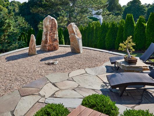 Modern Asian Art Garden by Amy Martin Landscape Design