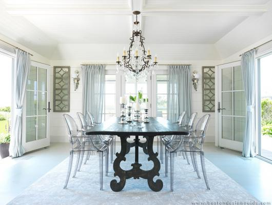 Lucite in the dining room