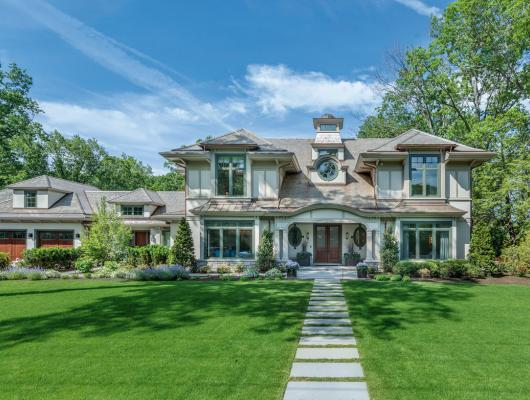 The Arts and Crafts-style meets English Country in a custom suburban Boston home
