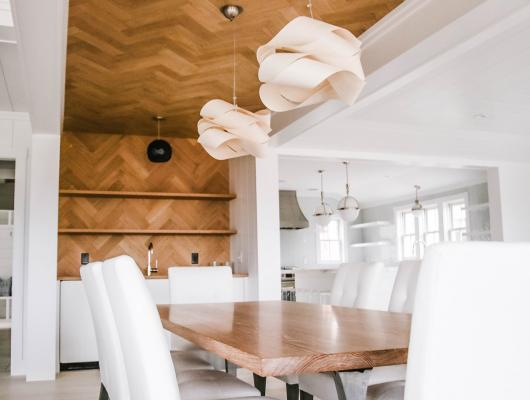 Wood as a ceiling or feature wall