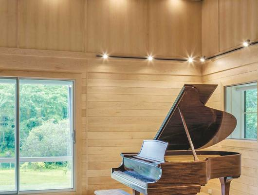 Contemporary music room by architect John D. Battle