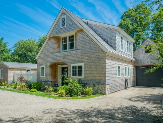 Renovated Cape Cod home front view