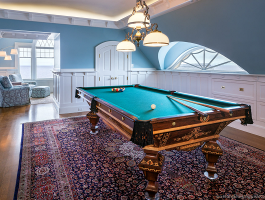 Restored antique pool table