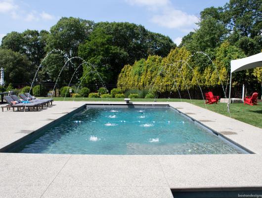 Inground gunite pool by SSG Pools