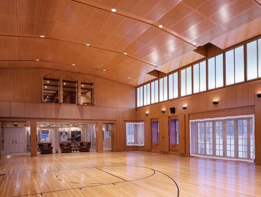 High-end indoor basketball court