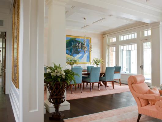 Spring colors in interior design