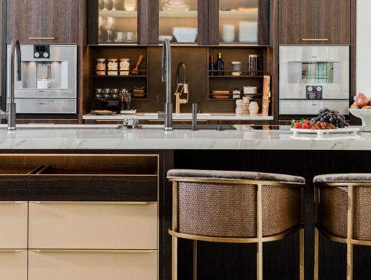 Custom kitchen designed for Venegas and Company showroom