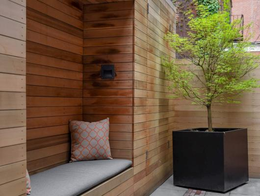Boston courtyard design by Matthew Cunningham Landscape Design