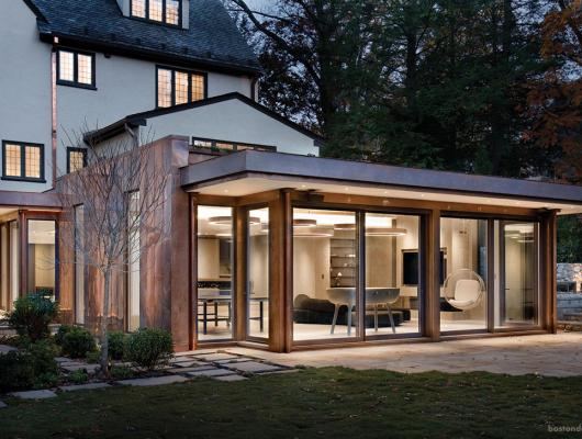 High-end modern home in New England