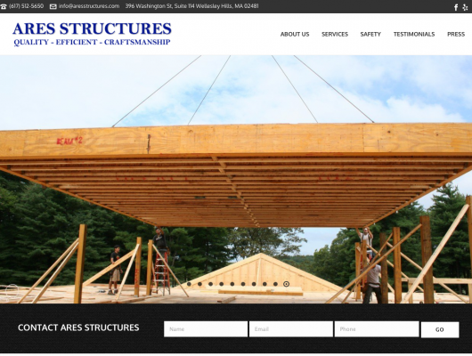 Ares Structures Launch Beautiful New Website