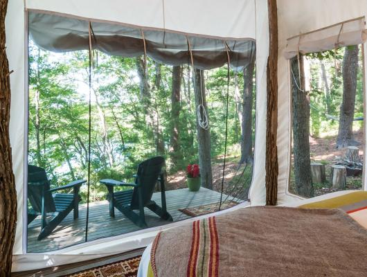 Glamp created by Cape Cod architect Jill Neubauer