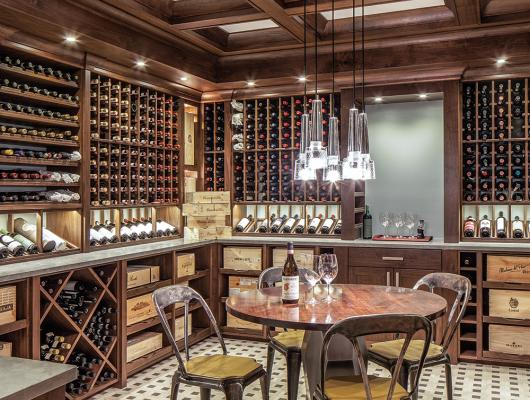 Traditional custom wine cellar by Charles River Wine Cellars